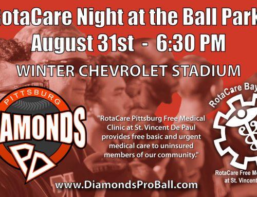 Pittsburg Diamonds Baseball Team To Have Fundraiser For RotaCare Pittsburg!